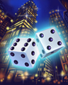Pair 'o Dice City Badge - Dice City Roller