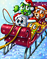 Sleigh Riders Badge - Pogo Addiction Solitaire