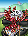Rocket Bear Badge - Panda Pai Gow Poker