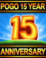 Pogo 15 Year Anniversary Badge