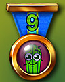 Spike's Marathon 9 Badge - Pogo Bowl