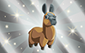 Silver Stuffed Llamas Badge - Poppit! Bingo