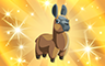 Gold Stuffed Llamas Badge - Poppit! Bingo