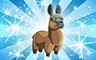 Diamond Stuffed Llamas Badge - Poppit! Bingo
