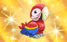 Gold Macaw Badge - Poppit! Bingo