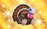 Gold Stuffed Turkey Badge - Poppit! Bingo