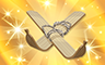Gold Ski Badge - Poppit! Bingo
