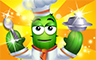 Gold Chef Badge - Poppit! Party