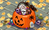 Trick Or Treat Basket Badge - Solitaire Gardens