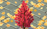 Red Autumn Tree Badge - Solitaire Gardens