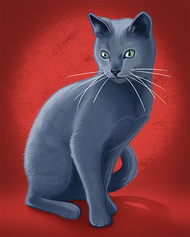 Russian Blue Badge - Quinn's Aquarium