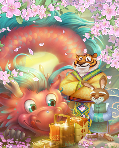 Celebration Of Spring Badge - Mahjong Sanctuary