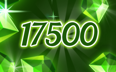 Green Jewels 17500 Badge - Jewel Academy
