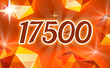 Orange Jewels 17500 Badge - Jewel Academy