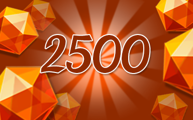 Orange Jewels 2500 Badge - Jewel Academy
