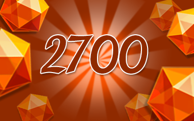 Orange Jewels 2700 Badge - Jewel Academy