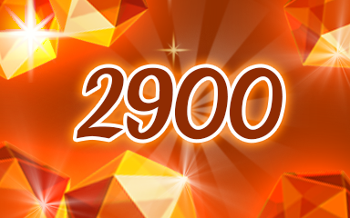 Orange Jewels 2900 Badge - Jewel Academy