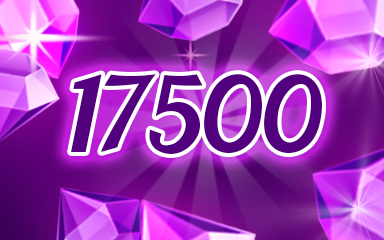 Purple Jewels 17500 Badge - Jewel Academy