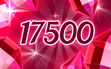 Red Jewels 17500 Badge - Jewel Academy