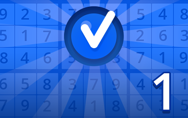Beginner 1 Badge - Pogo Daily Sudoku