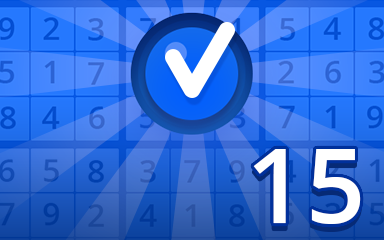 Beginner 15 Badge - Pogo Daily Sudoku