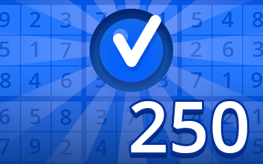 Beginner 250 Badge - Pogo Daily Sudoku
