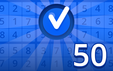 Beginner 50 Badge - Pogo Daily Sudoku