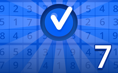 Beginner 7 Badge - Pogo Daily Sudoku