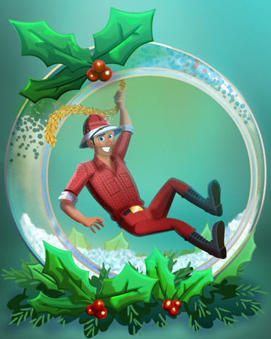 Perilous Poinsettia Badge - Tri-Peaks Solitaire HD