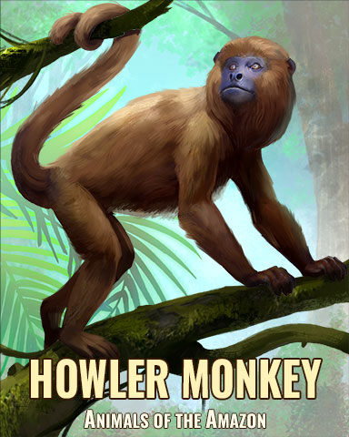Howler Monkey Badge - Crossword Cove HD