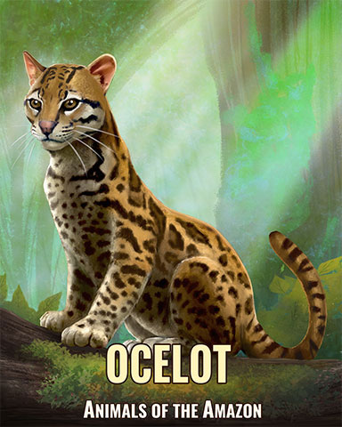 Ocelot Badge - Mahjong Safari HD