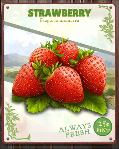 Strawberry Produce Badge - First Class Solitaire HD