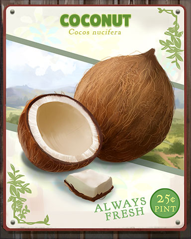 Coconut Produce Badge - Claire Hart: Secret In The Shadows