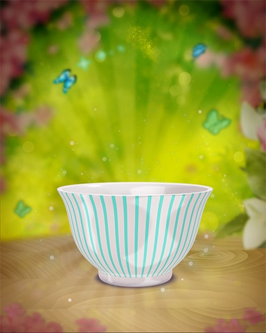 Teal-Striped Teacup Badge - Cookie Connect