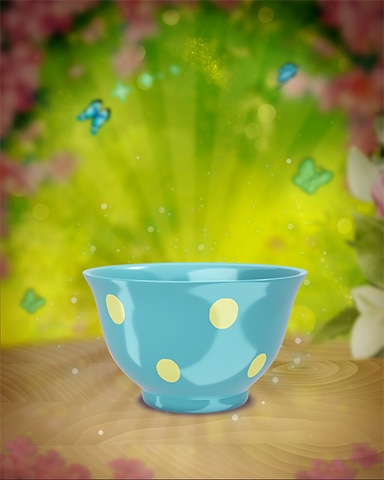 Yellow-Dotted Teacup Badge - Solitaire Blitz