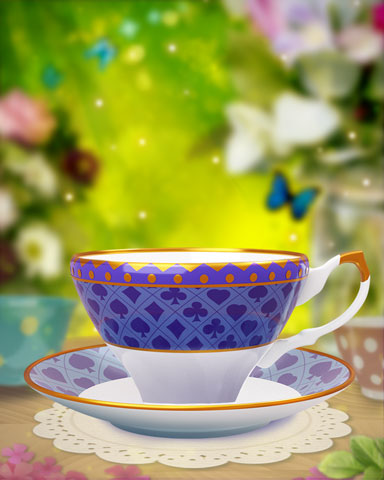 Card Suits Teacup Badge - Canasta HD