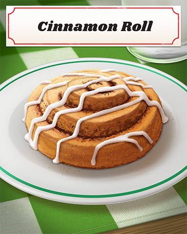 Cinnamon Roll Badge - Bingo Luau