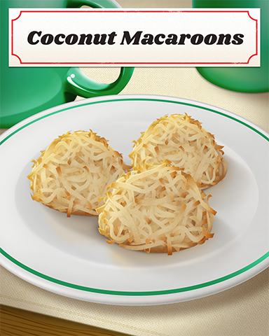 Coconut Macaroons Badge - First Class Solitaire HD