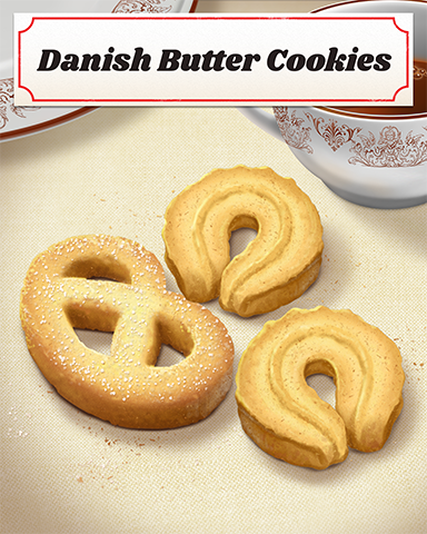 Danish Butter Cookies Badge - StoryQuest