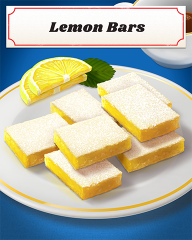 Lemon Bars Badge - Word Search Daily HD