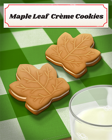 Maple Leaf Creme Cookies Badge - Claire Hart: Secret In The Shadows