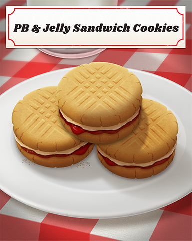PB & Jelly Sandwich Cookies Badge - Big City Adventure