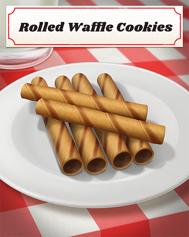 Rolled Waffle Cookies Badge - Bejeweled 3