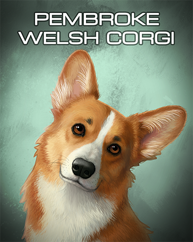 Pembroke Welsh Corgi Badge - Dominoes
