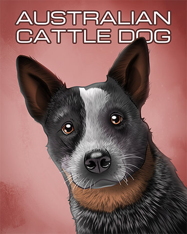 Australian Cattle Dog Badge - Mahjong Garden HD