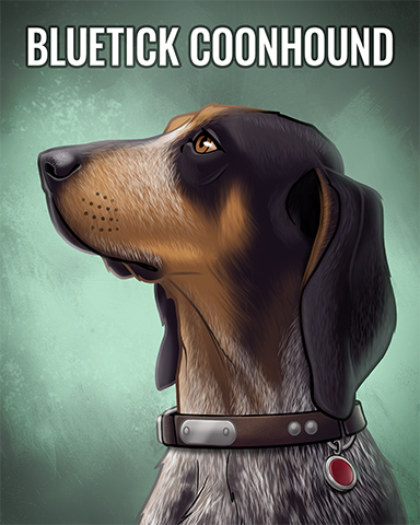 Bluetick Coonhound Badge - Word Whomp HD