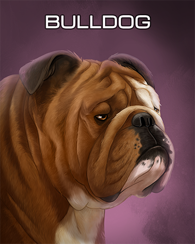 Bulldog Badge - Solitaire Gardens