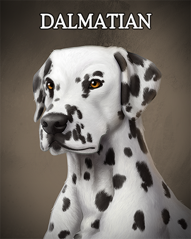 Dalmatian Badge - Dominoes