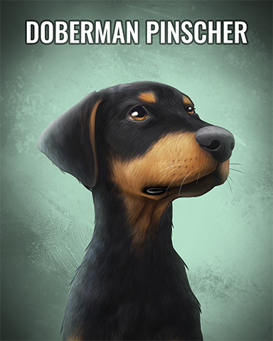 Doberman Pinscher Badge - StoryQuest