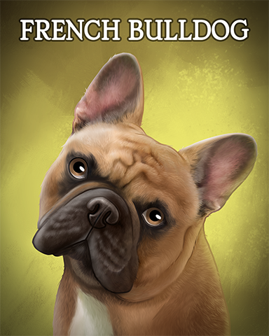 French Bulldog Badge - Jet Set Solitaire